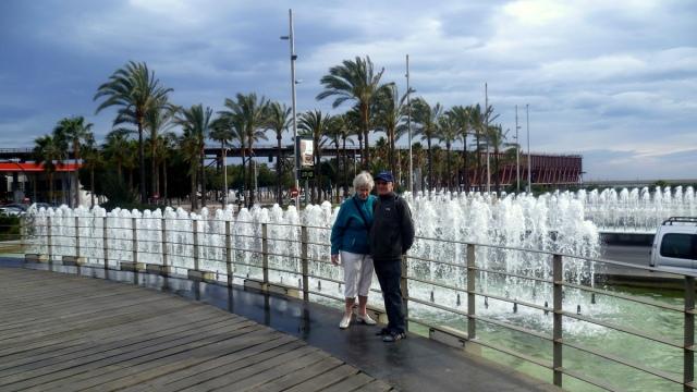 Fonteinen op het het einde van de Avenida Garcia Lorca