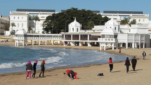 Strand Cadiz gelegen in het oude Cadiz.