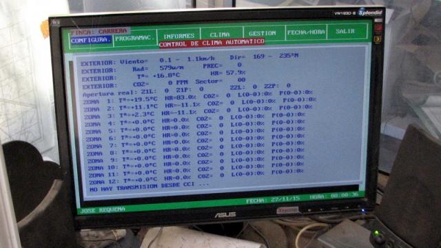 Alle variabelen worden gemeten en verwerkt in het computersysteem.