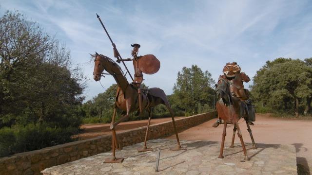 We bezochten ook de grot waar Don Quichote in hoofdstuk 12 en 13 verbleef.; Cueva de Montesino. (helaas was de gids in verlof)